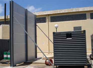 Barrera acustica para maquinas de clima y aire acondicionado